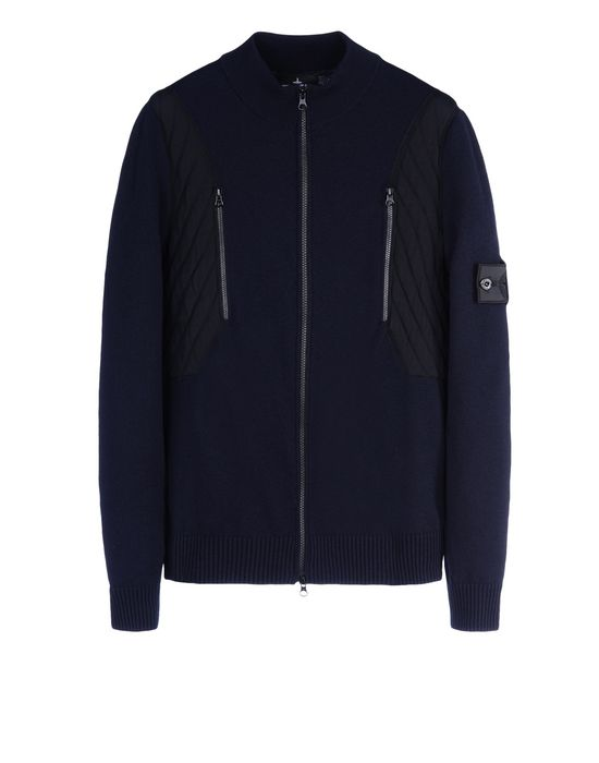 Sweater 501A6 TACTICAL TRACK JACKET _ STRETCH WOOL WITH INTARSIA STONE ISLAND SHADOW PROJECT - 0