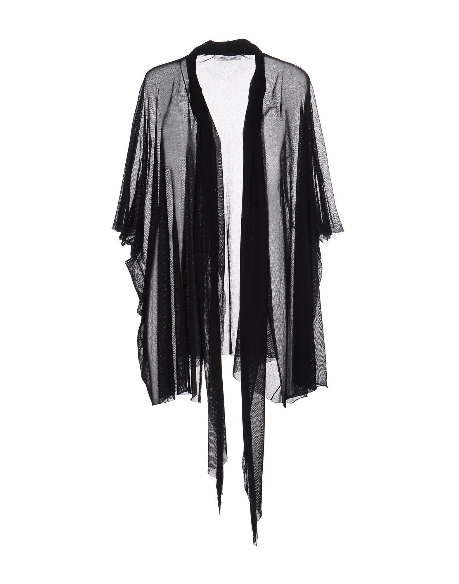 《セール開催中》LAMBERTO LOSANI レディース カーディガン ブラック one size コットン 100%