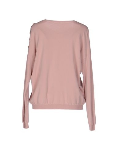 Фото 2 - Женский свитер  розового цвета