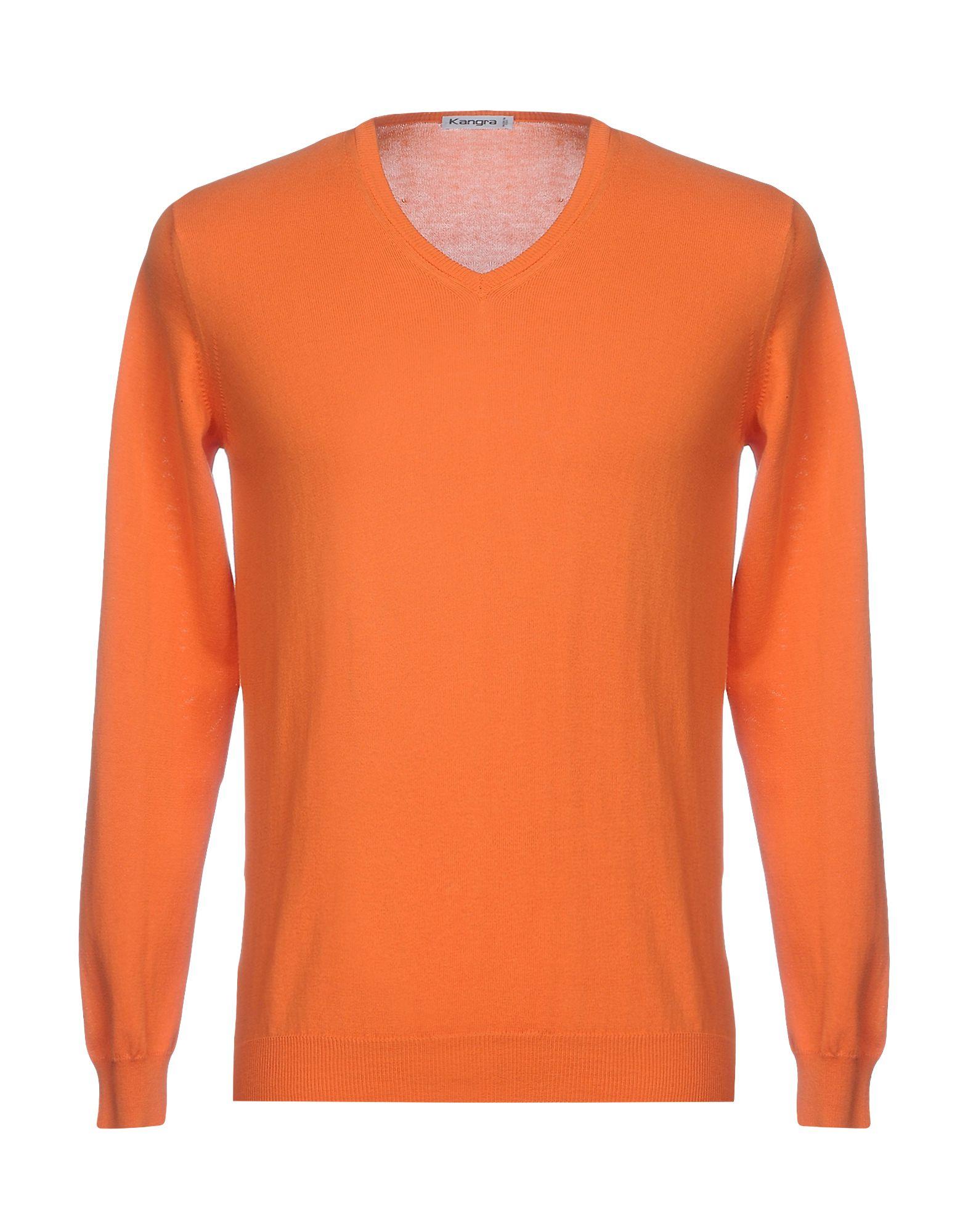 KANGRA CASHMERE Herren Pullover Farbe Orange Größe 3