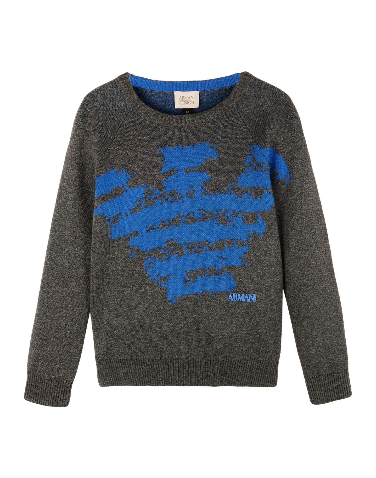 ARMANI JUNIOR Jungen 3-8 jahre Pullover Farbe Grau Größe 4