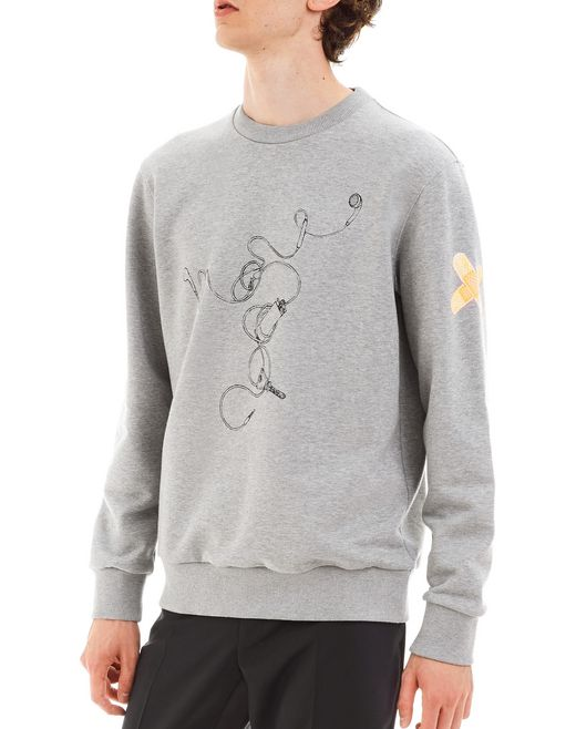 "lanvin ""headphones"" sweatshirt by cédric rivrain men"