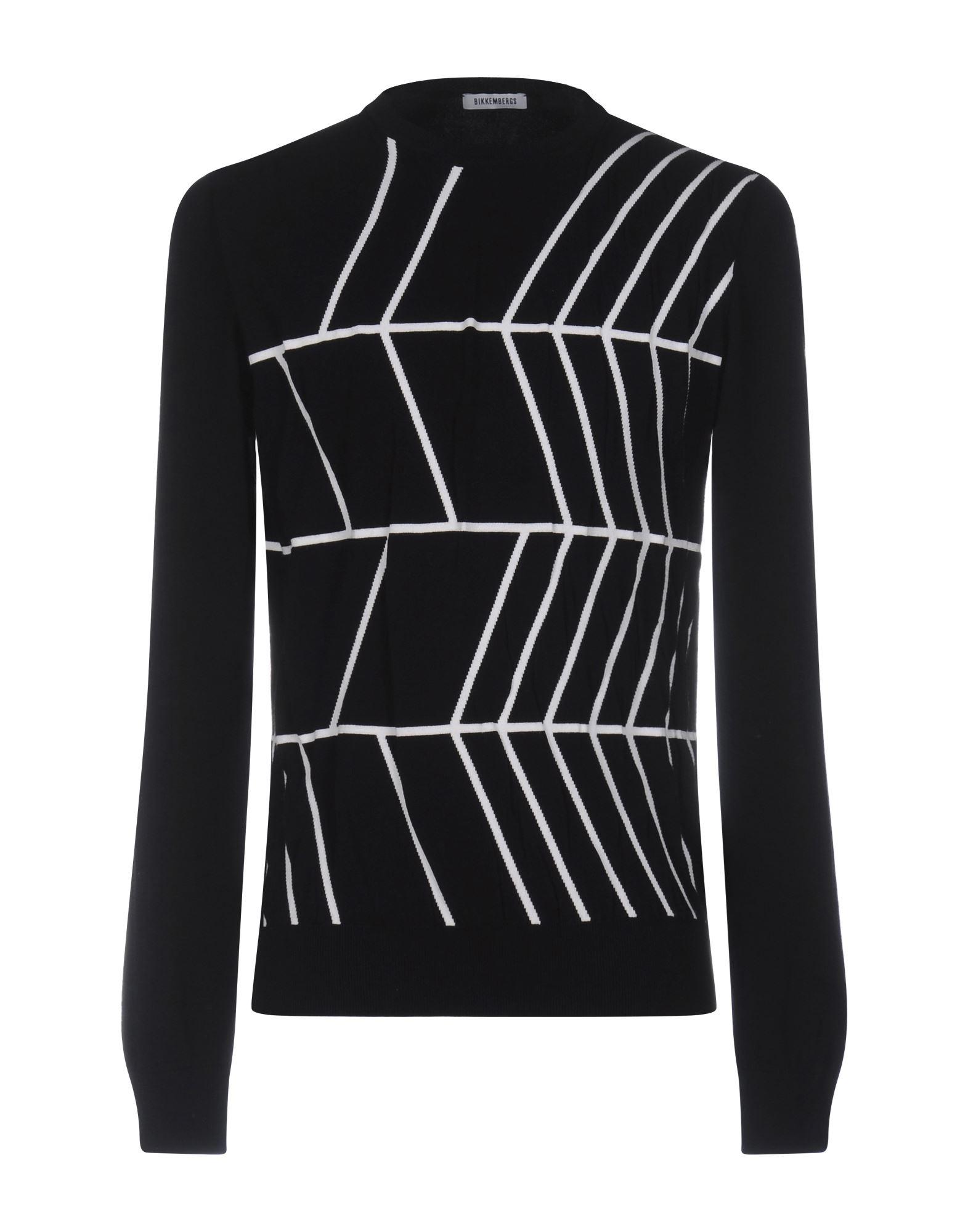 BIKKEMBERGS Herren Pullover Farbe Schwarz Größe 8