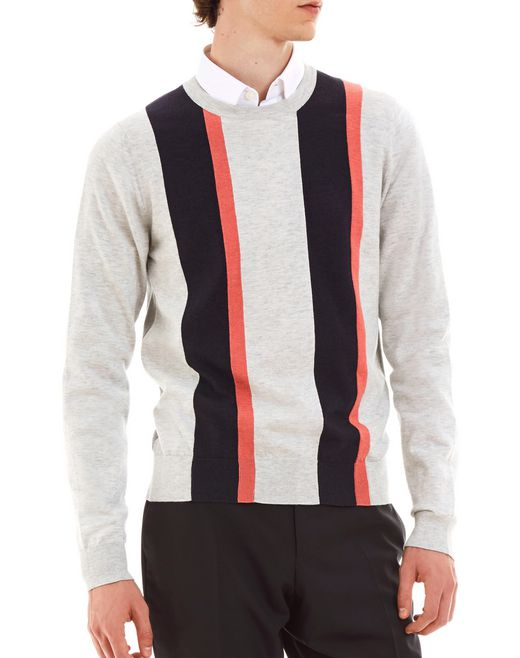 lanvin patchwork sweater with round neck men