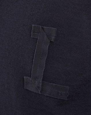 LANVIN OPENWORK V-NECK SWEATER Knitwear & Sweaters U b