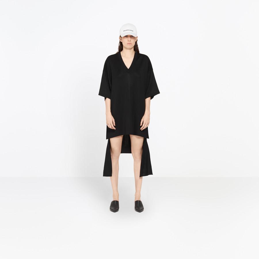BALENCIAGA Short Sleeves V Neck Dress Knitwear D g