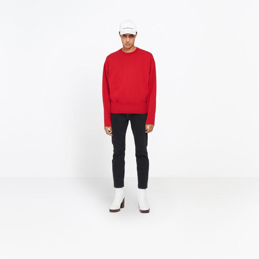 BALENCIAGA Large Round Neck Sweater Knitwear U g