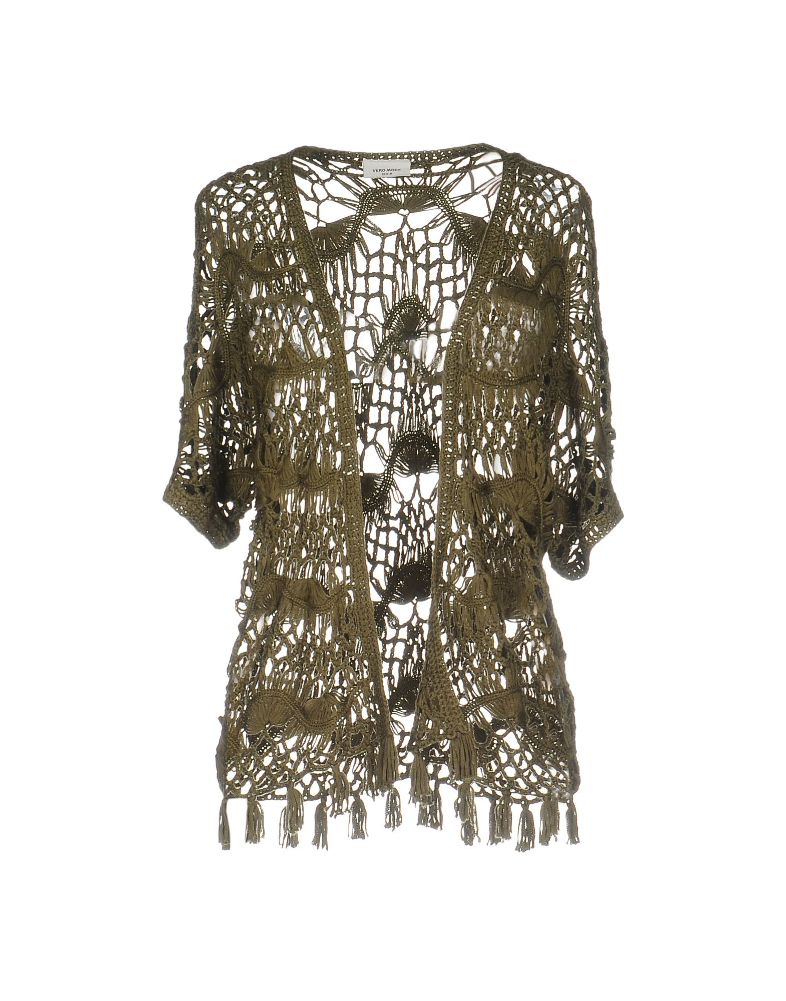 VERO MODA Кардиган bowknot see thru lace vintage dress