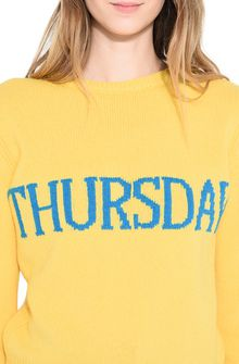 ALBERTA FERRETTI THURSDAY IN YELLOW KNITWEAR Woman a