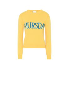 ALBERTA FERRETTI THURSDAY IN YELLOW KNITWEAR Woman e