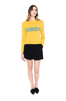 ALBERTA FERRETTI THURSDAY IN YELLOW KNITWEAR Woman f