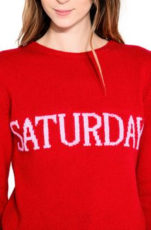 ALBERTA FERRETTI SATURDAY IN RED KNITWEAR Woman a