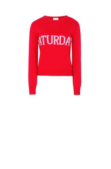ALBERTA FERRETTI SATURDAY IN RED KNITWEAR D e
