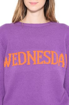ALBERTA FERRETTI WEDNESDAY IN VIOLET KNITWEAR Woman a