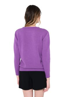 ALBERTA FERRETTI WEDNESDAY IN VIOLET KNITWEAR Woman d