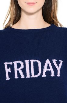 ALBERTA FERRETTI FRIDAY IN BLUE KNITWEAR Woman a