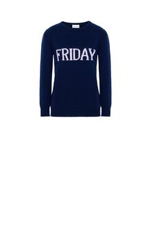ALBERTA FERRETTI FRIDAY IN BLUE KNITWEAR D e