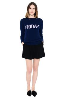 ALBERTA FERRETTI FRIDAY IN BLUE KNITWEAR Woman f