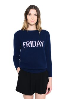 ALBERTA FERRETTI FRIDAY IN BLUE KNITWEAR D r