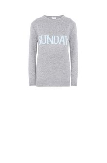 ALBERTA FERRETTI SUNDAY IN GREY KNITWEAR Woman e