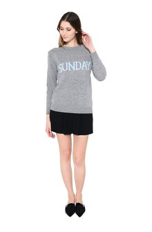 ALBERTA FERRETTI SUNDAY IN GREY KNITWEAR Woman f