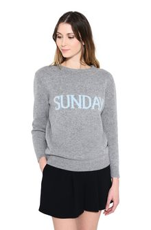ALBERTA FERRETTI SUNDAY IN GREY KNITWEAR Woman r