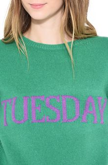 ALBERTA FERRETTI TUESDAY IN GREEN KNITWEAR Woman a