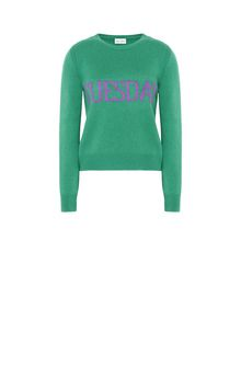 ALBERTA FERRETTI TUESDAY IN GREEN KNITWEAR Woman e