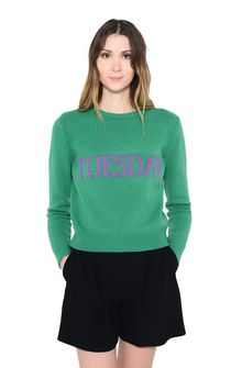 ALBERTA FERRETTI TUESDAY IN GREEN KNITWEAR Woman r