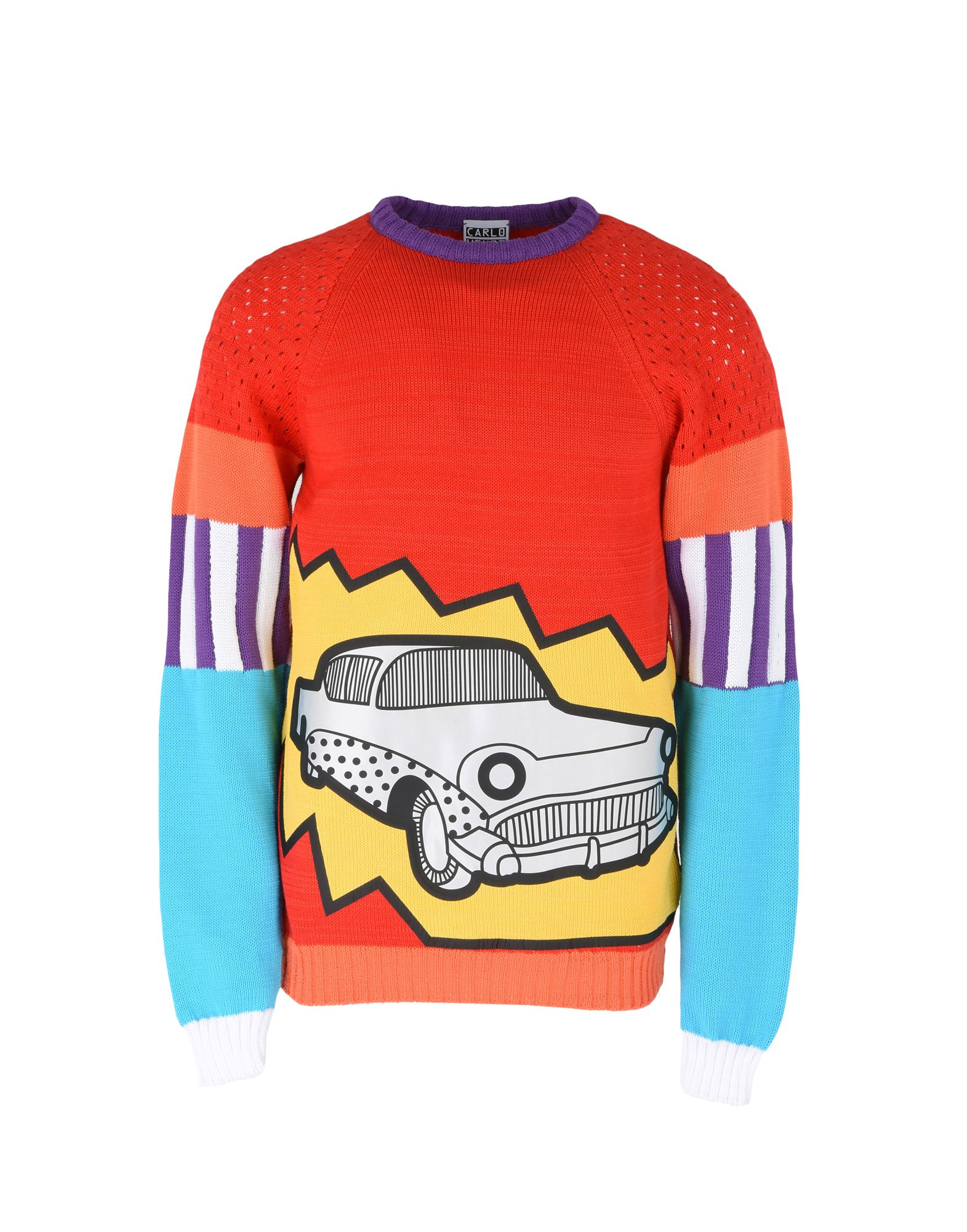 CARLO VOLPI KNITWEAR Свитер striped openwork pullover knitwear