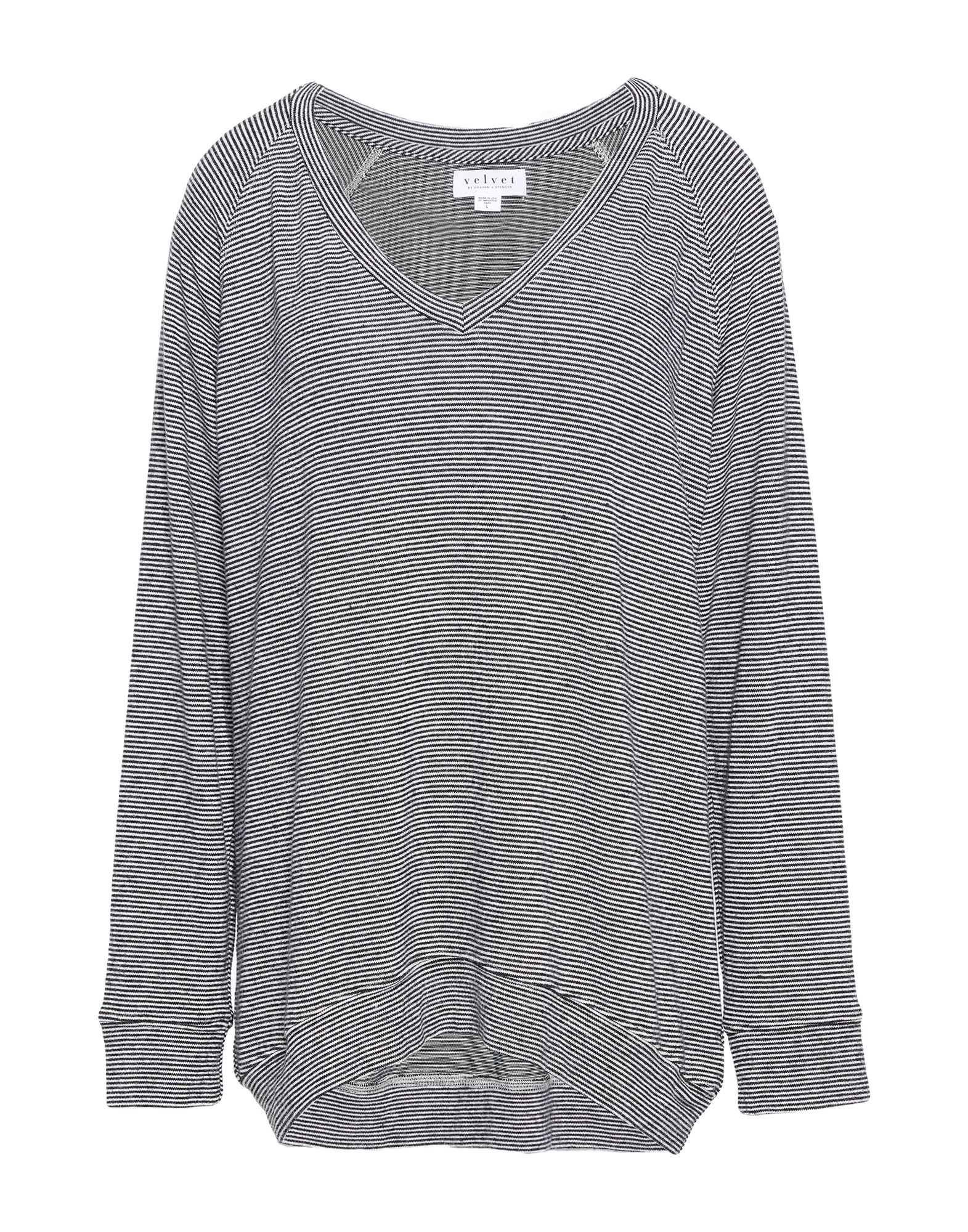 VELVET by GRAHAM & SPENCER Свитер v neck lace trim velvet blouse