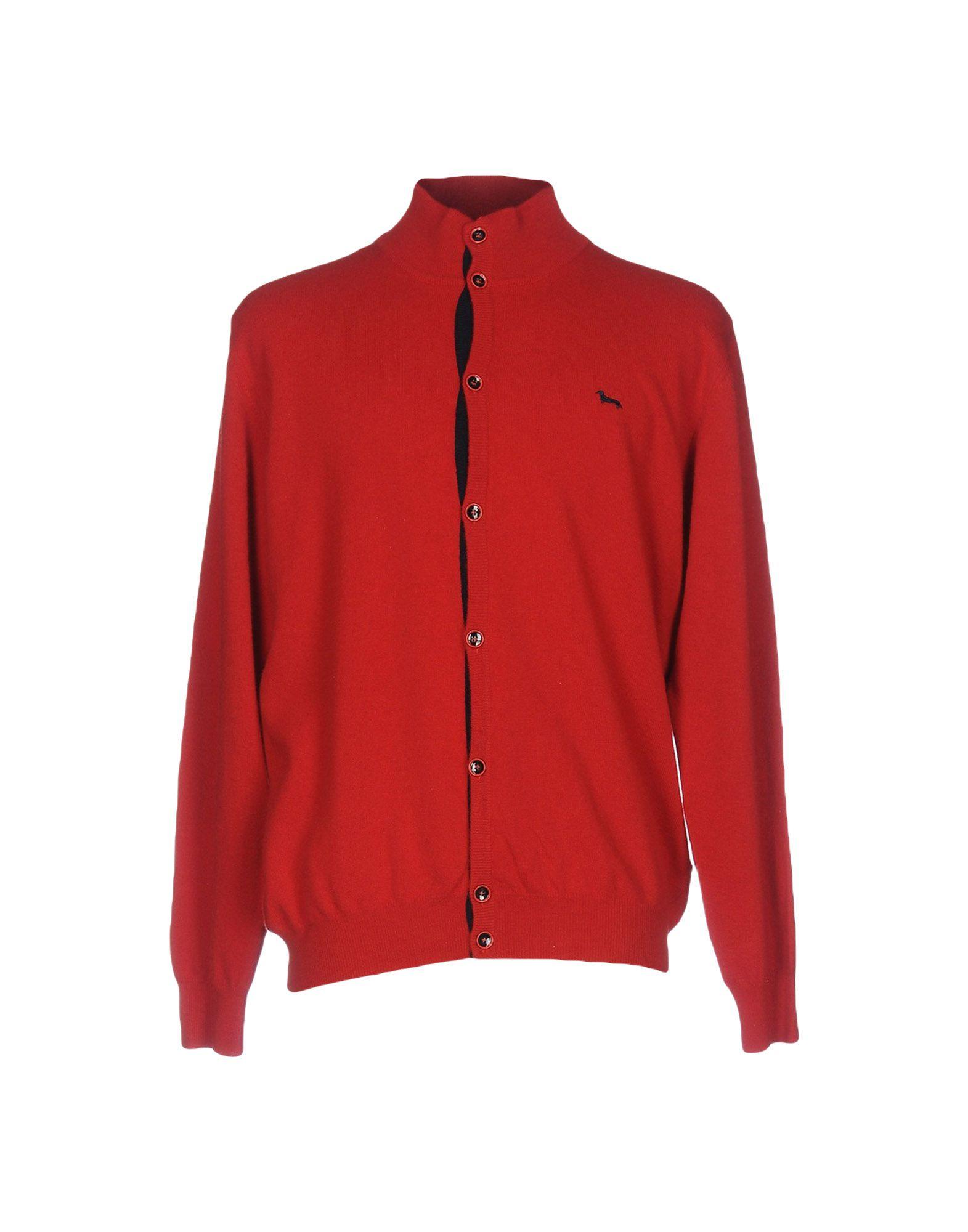 HARMONT&BLAINE Herren Strickjacke Farbe Rot Größe 4 jetztbilligerkaufen