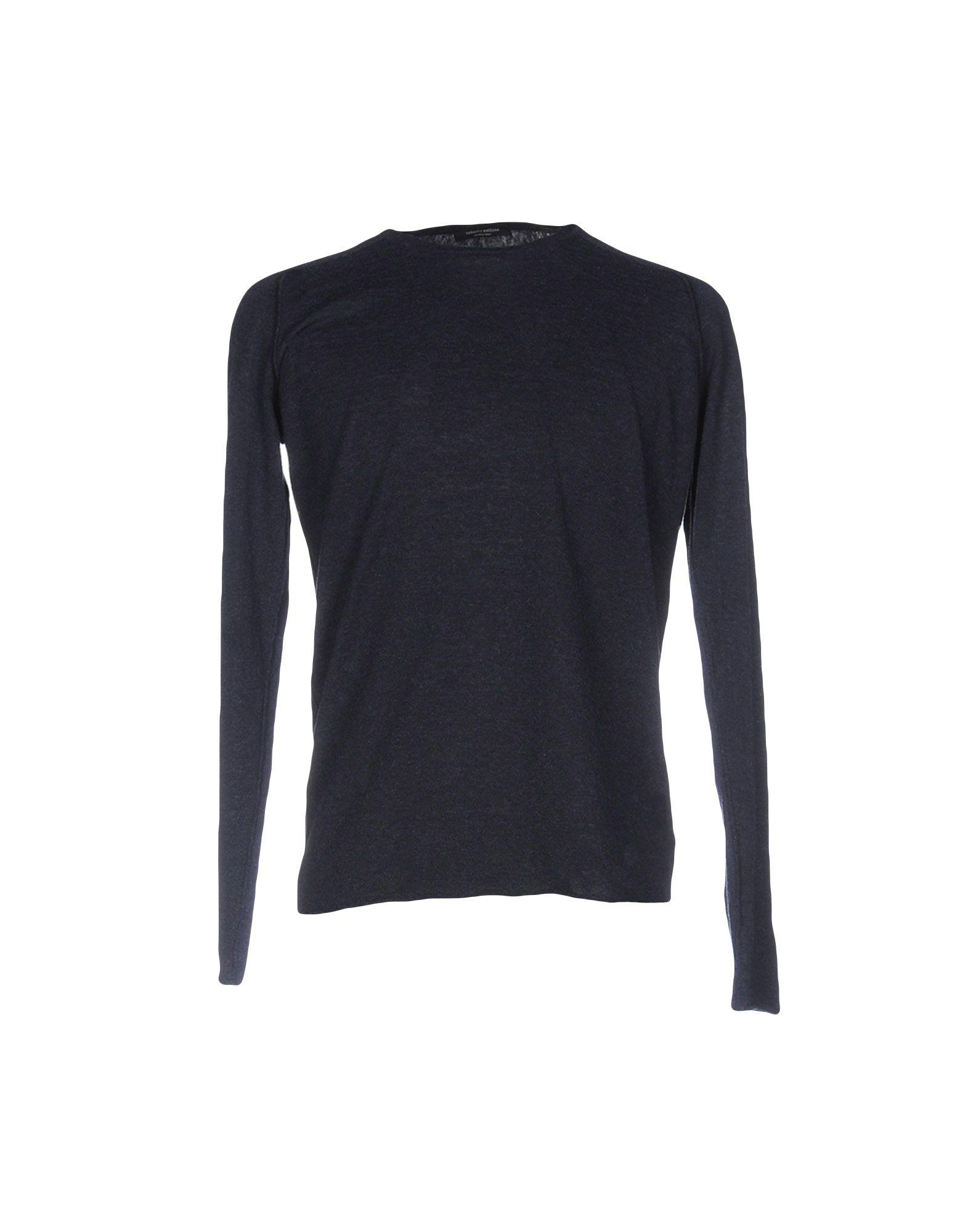 ROBERTO COLLINA Herren Pullover Farbe Dunkelblau Größe 5 jetztbilligerkaufen