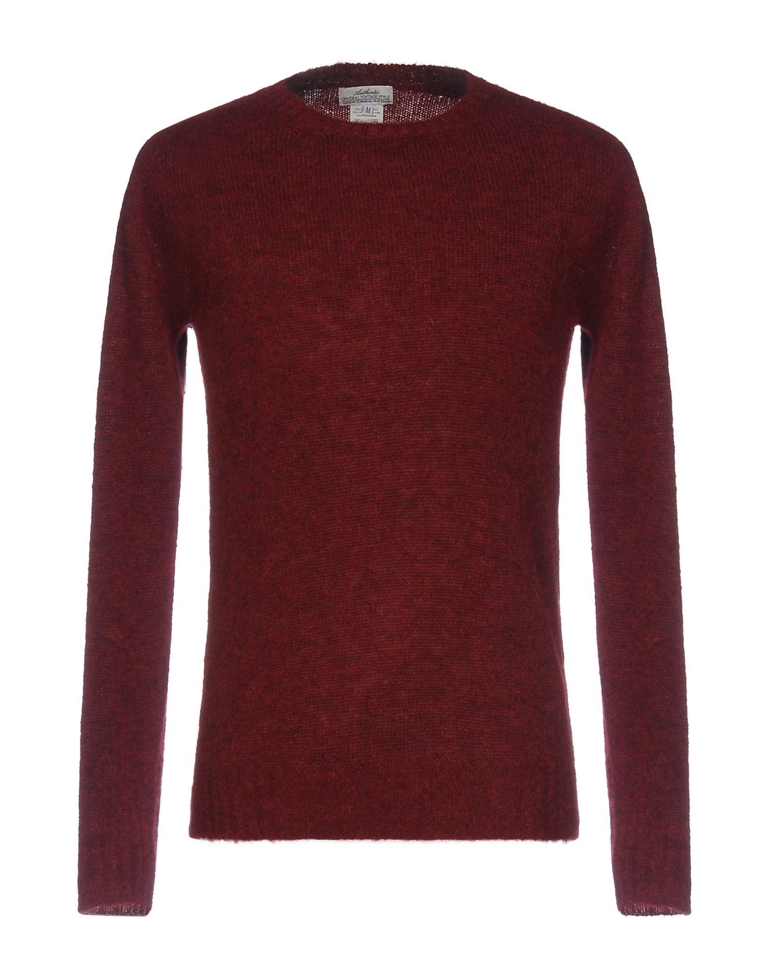 AUTHENTIC ORIGINAL VINTAGE STYLE Herren Pullover Farbe Bordeaux Größe 7 jetztbilligerkaufen