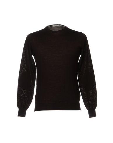Фото - Мужской свитер PAOLO PECORA темно-коричневого цвета
