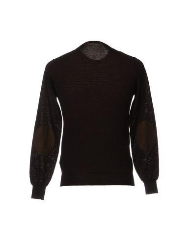 Фото 2 - Мужской свитер PAOLO PECORA темно-коричневого цвета
