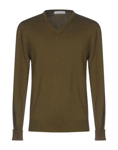 Фото - Мужской свитер  цвет зеленый-милитари