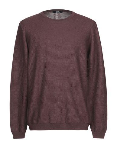 Купить Мужской свитер +39 MASQ красно-коричневого цвета