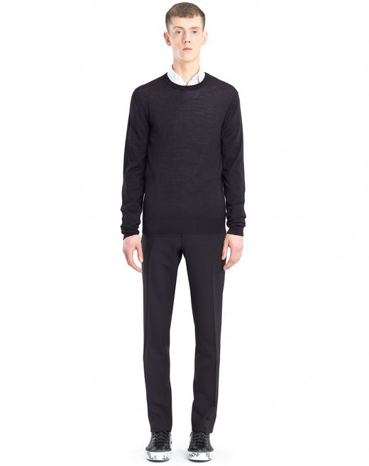 lanvin mouliné neck sweater men