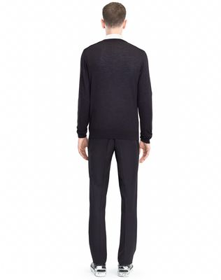LANVIN MOULINÉ NECK SWEATER Knitwear & Jumpers U d