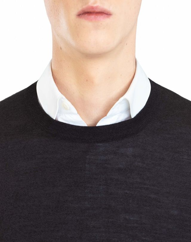 LANVIN MOULINÉ NECK SWEATER Knitwear & Jumpers U a
