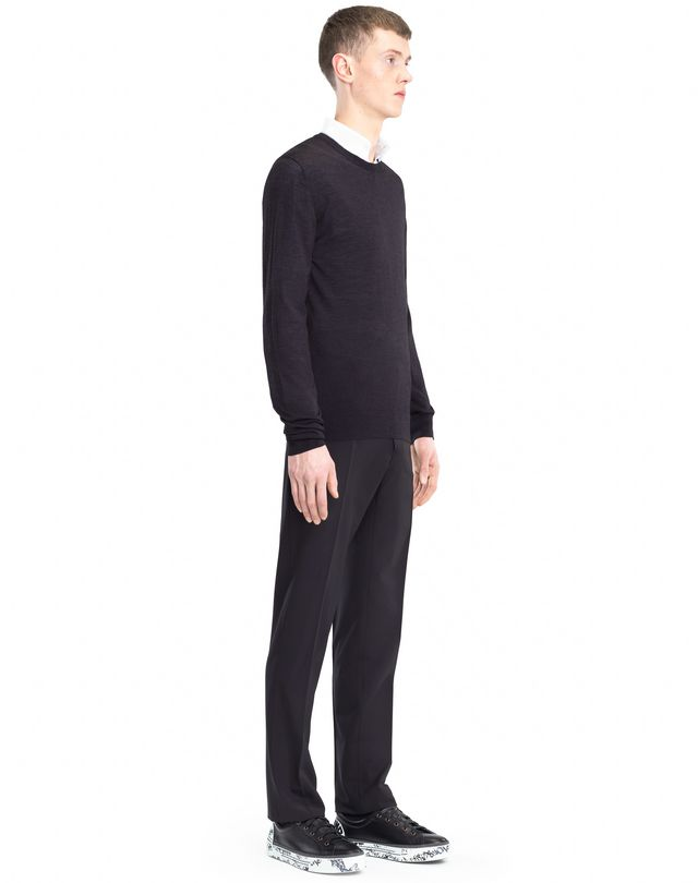 LANVIN MOULINÉ NECK SWEATER Knitwear & Jumpers U e