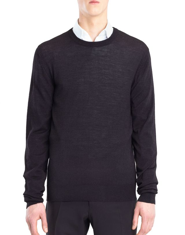 LANVIN MOULINÉ NECK SWEATER Knitwear & Jumpers U f