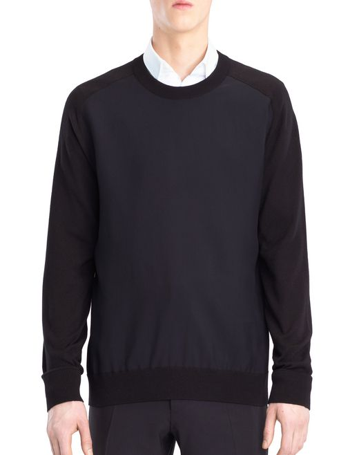 lanvin sweater with jersey front men
