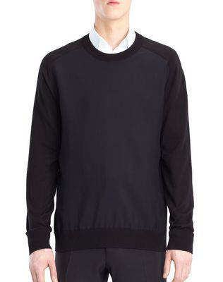 LANVIN SWEATER WITH JERSEY FRONT Knitwear & Sweaters U f