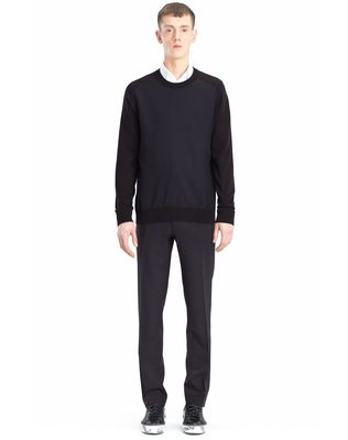 LANVIN SWEATER WITH JERSEY FRONT Knitwear & Sweaters U r