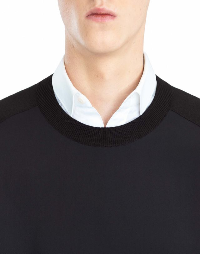 LANVIN SWEATER WITH JERSEY FRONT Knitwear & Sweaters U a