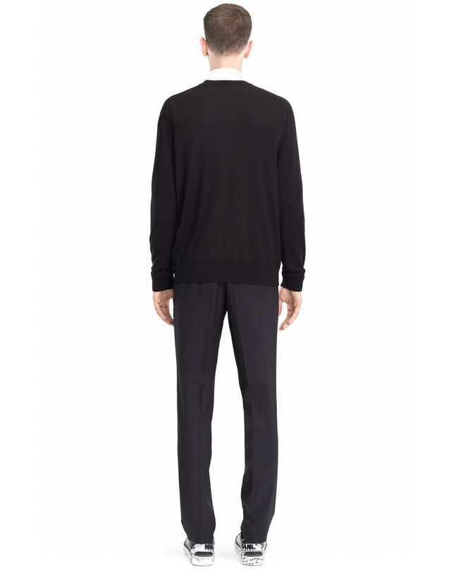 LANVIN SWEATER WITH JERSEY FRONT Knitwear & Sweaters U d
