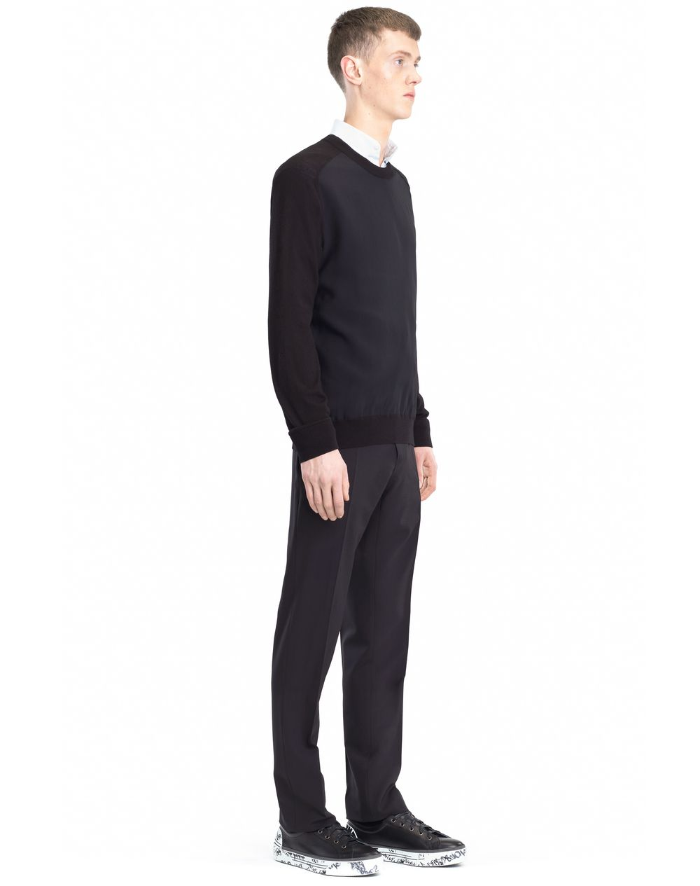 SWEATER WITH JERSEY FRONT - Lanvin