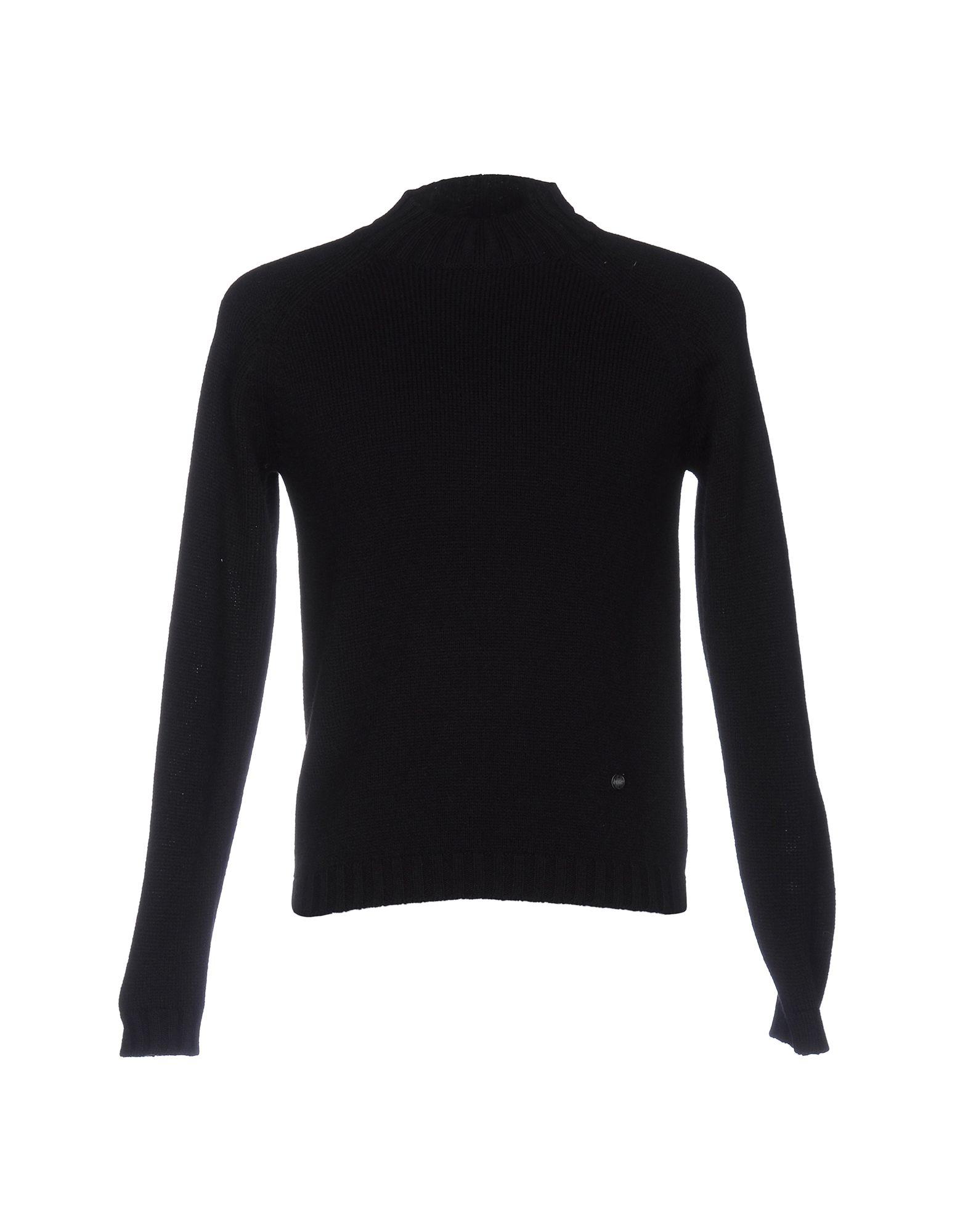 《期間限定セール中》LABORATORI ITALIANI メンズ タートルネック ブラック S アクリル 50% / ウール 25% / 毛(アルパカ) 25%